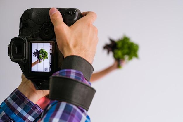 Conceito de tecnologia de comércio de fotos de publicidade de fotografia de alimentos