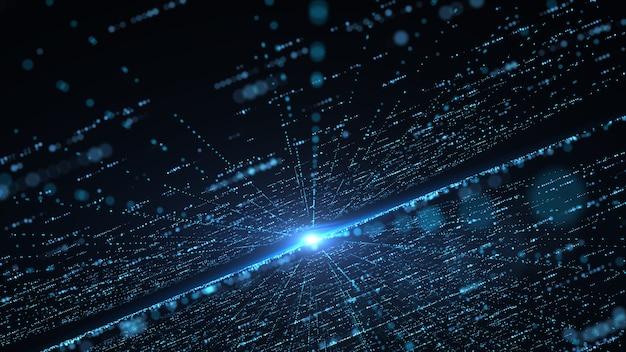 Conceito de tecnologia de informação de grande volume de dados futurista.