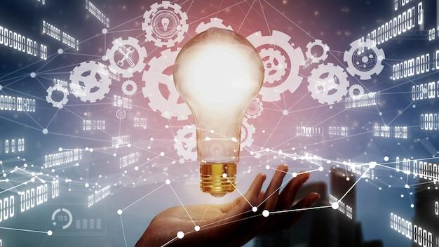 Conceito de tecnologia de inovação para finanças empresariais