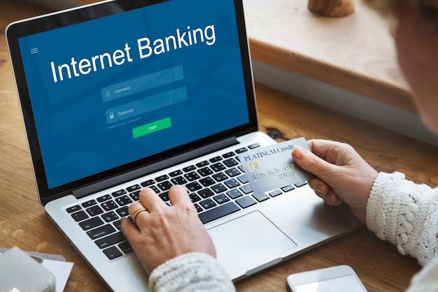 Conceito de tecnologia de pagamento online de internet banking