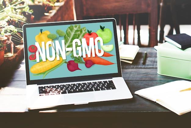 Conceito de tecnologia de planta orgânica não geneticamente modificada