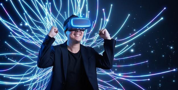 Conceito de tecnologia de realidade virtual aumentada