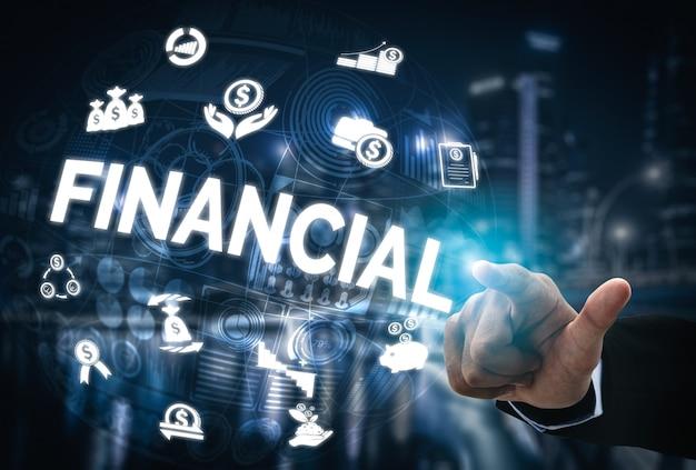 Conceito de tecnologia de transação de finanças e dinheiro