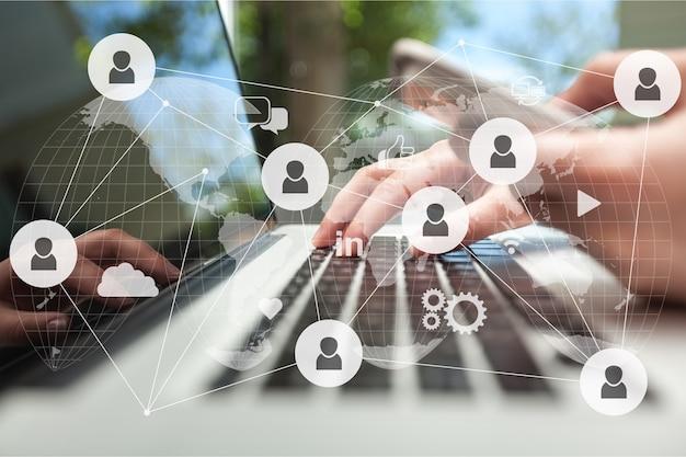 Conceito de tecnologia digital de rede