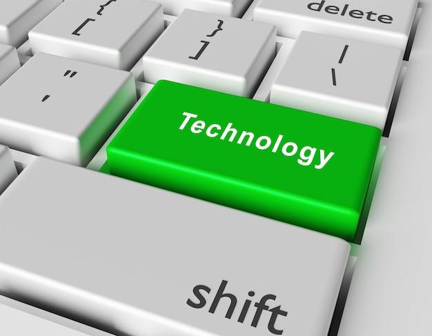 Conceito de tecnologia. tecnologia word no botão do teclado do computador