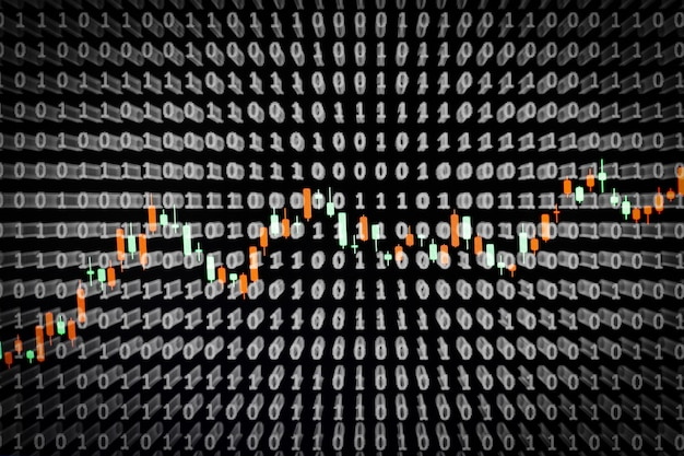 Conceito de tela de negócios on-line com fundo binário