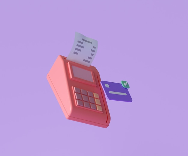 Conceito de terminal de pagamento online