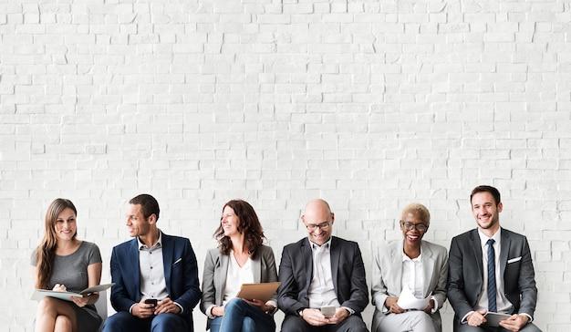 Conceito de trabalho de recrutamento de entrevista de recursos humanos