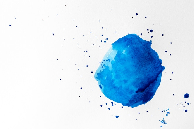 Conceito de traçado de pincel azul aquarela