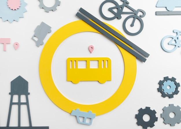 Conceito de transporte com veículos