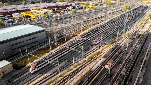 Conceito de transporte ferroviário e ferroviário