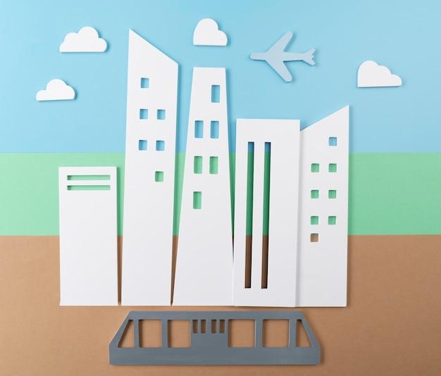 Conceito de transporte urbano com bonde