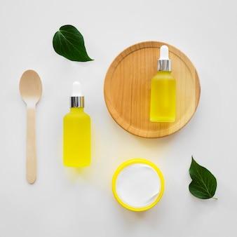 Conceito de tratamento de spa com óleos cítricos