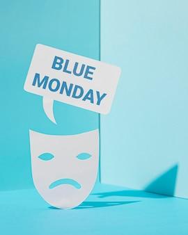 Conceito de tristeza azul segunda-feira