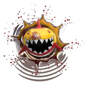 Conceito de tubarão - ilustração 3d