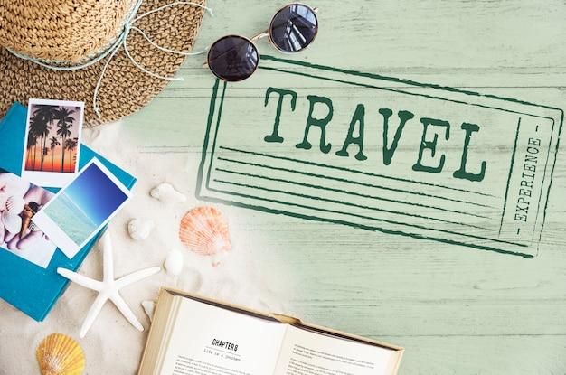 Conceito de turismo de destino de viagem de férias de férias