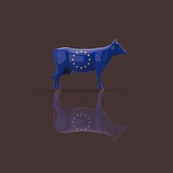 Conceito de vaca - ilustração 3d