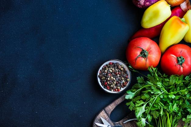 Conceito de vegetais orgânicos