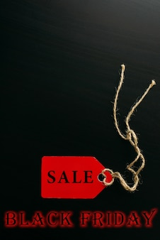Conceito de venda de compras da black friday