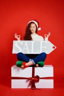 Conceito de venda de natal e inverno
