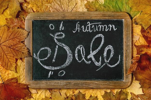 Conceito de venda de outono