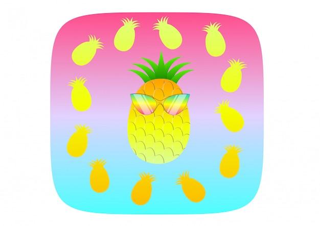 Conceito de verão ilustração abacaxi
