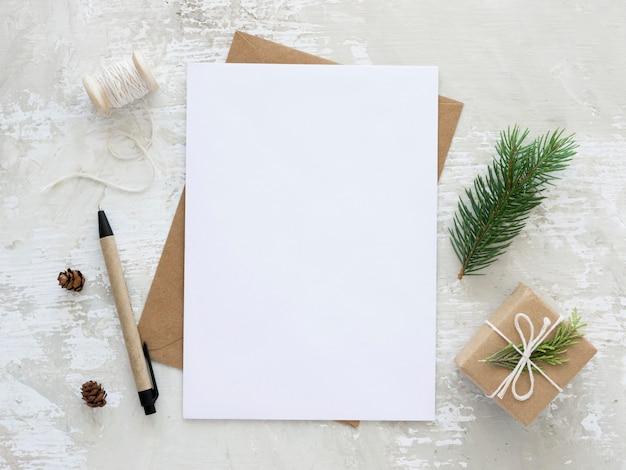 Conceito de véspera de natal com espaço de cópia