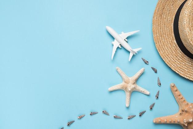 Conceito de viagem e praia