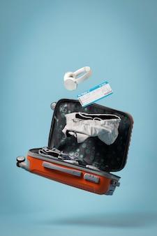 Conceito de viagens com bagagem
