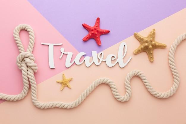 Conceito de viagens com estrelas do mar