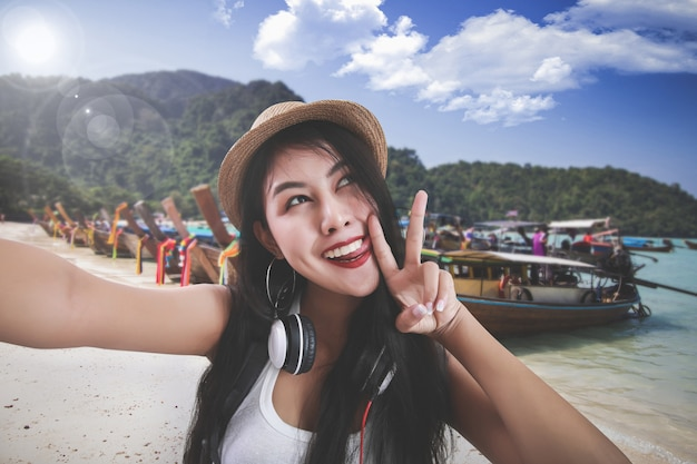 Conceito de viagens tailândia