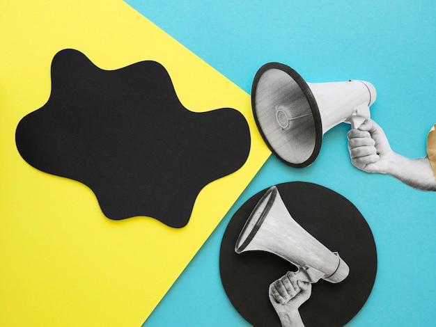 Conceito de vida negra importa com balão de fala