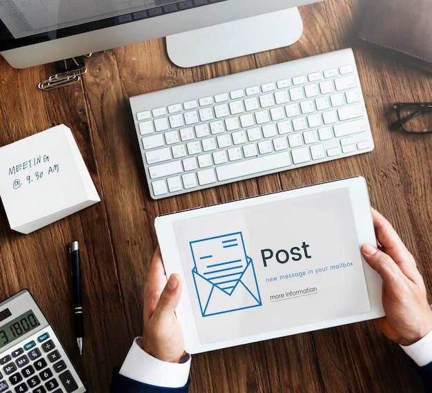 Conceito de vida social de conexão de comunicação