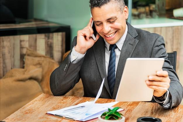 Conceito de visão do empresário crescimento motivação alvo