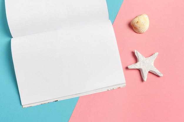 Conceito diário das férias da praia do verão da escrita