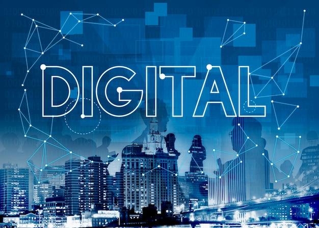 Conceito digital com horizonte