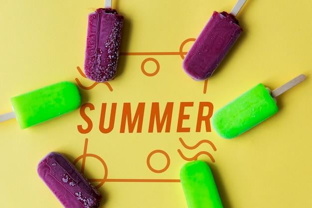 Conceito divertido de férias de verão