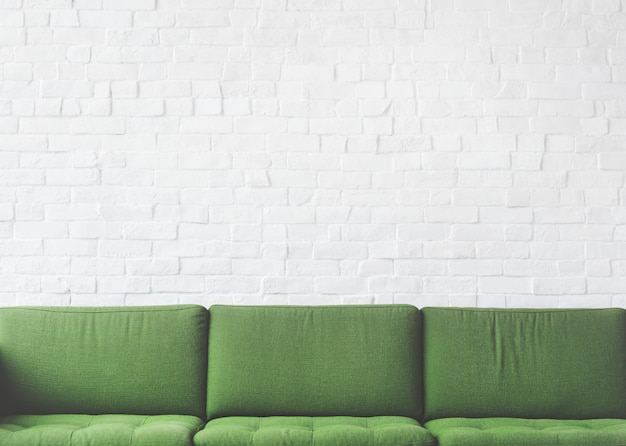 Conceito do abrandamento da decoração do projeto da mobília do sofá