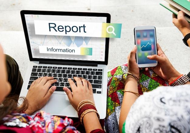 Conceito do alvo do relatório das estatísticas dos resultados