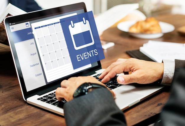 Conceito do calendário do organizador pessoal do lembrete da agenda da nomeação