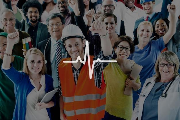 Conceito do cardiograma da saúde da vida dos cuidados médicos da pulsação do coração