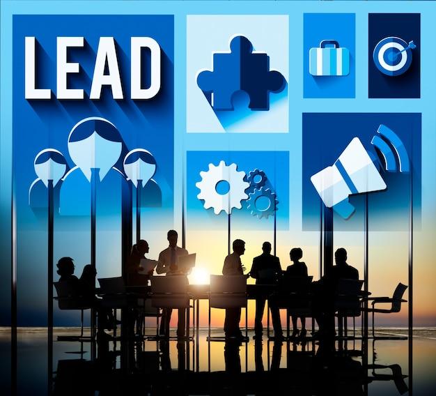 Conceito do chefe do mentor da gestão da liderança da ligação