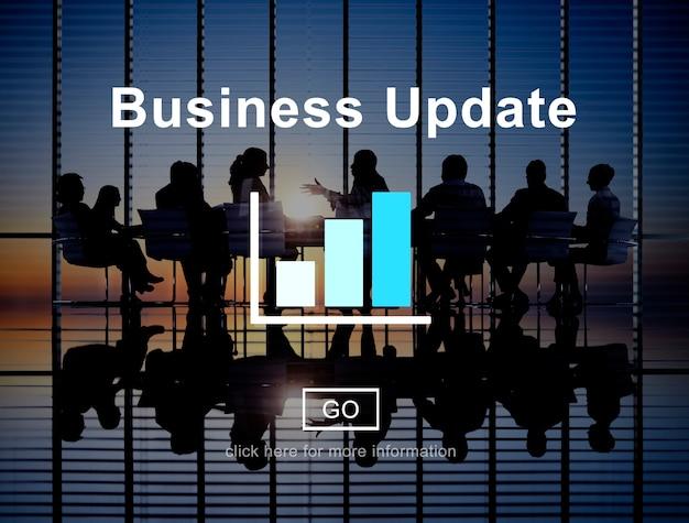 Conceito do desenvolvimento de planeamento da visão da estratégia da atualização empresarial