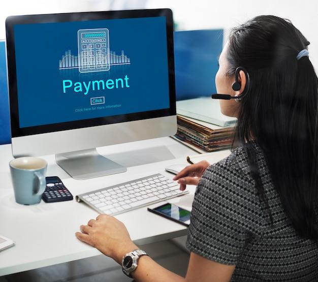 Conceito do dia de pagamento do orçamento da contabilidade de benefícios de pagamento