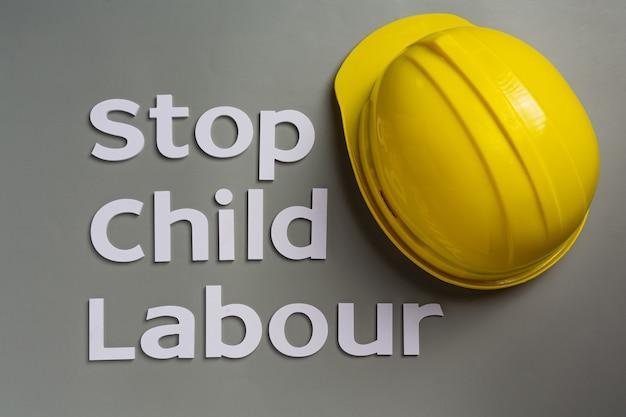 Conceito do dia mundial contra o trabalho infantil