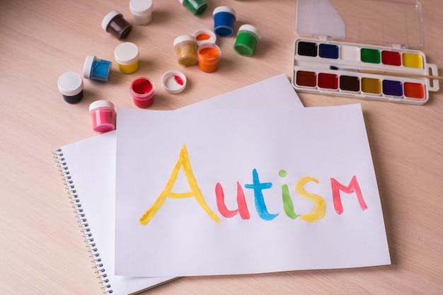 Conceito do dia mundial de conscientização do autismo. transtorno do espectro do autismo (asd).