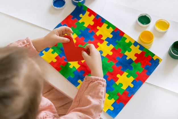 Conceito do dia mundial de conscientização do autismo.