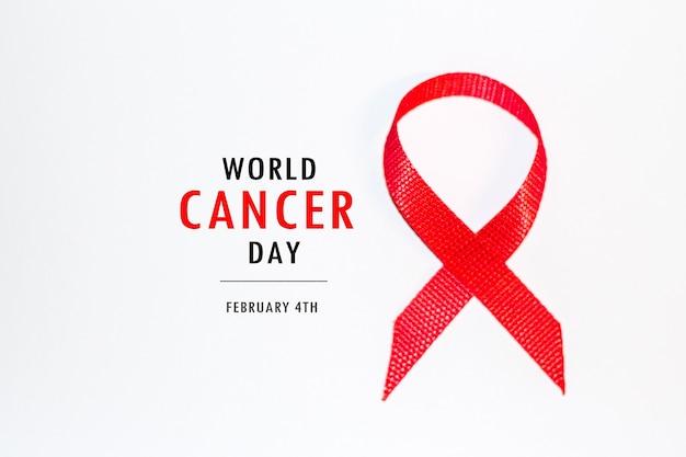 Conceito do dia mundial do câncer de 4 de fevereiro. conceito de câncer