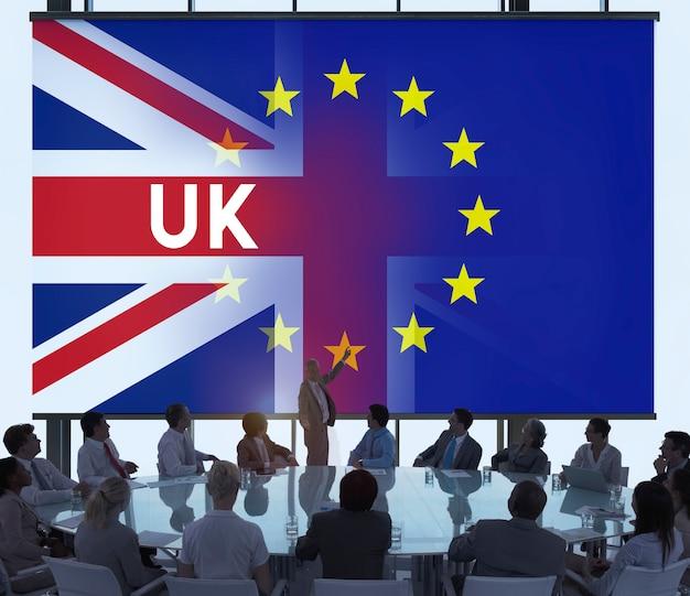 Conceito do referendo de brexit da ue grâ bretanha