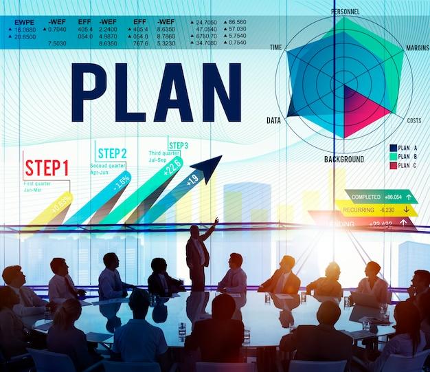 Conceito do sucesso do crescimento da visão do planeamento da estratégia